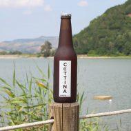 Birra La Cottina Amber Ale con vista lago