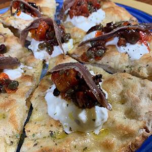 Pizza La Mediterranea S'Crock de La Cotta